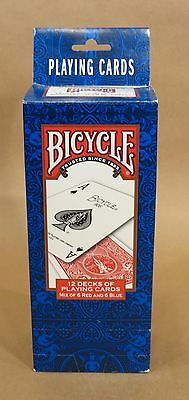 12 Decks of Bicycle Playing Cards • 6 Red & 6 Blue • Standard Faces • USA • NIB