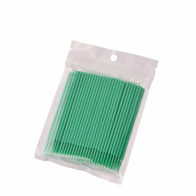 100 Pcs Green Disposable Dental Bendable Micro Applicator Brush Materials 2.0mm