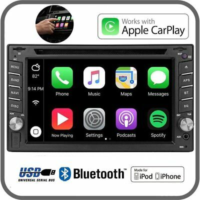 """6.2"""" Apple Car Play Smartphone Receiver Bluetooth Car MP3 CD Stereo MP4 Player"""