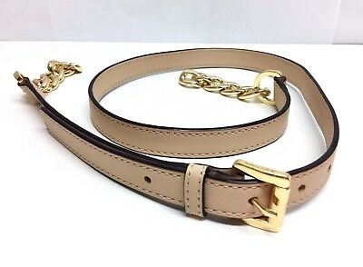 MICHAEL KORS Nude/ Beige Leather Replacement Strap with Gold Chain/ Hardware