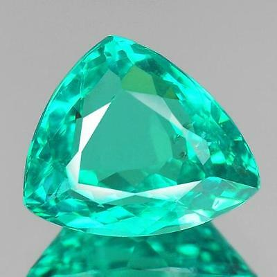 2.93 Cts 9.42x7.84x5.42MM 100% Natural Neon Green Color Brazil Apatite For Jewel