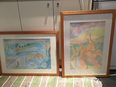 2 Original Pastel Chalk Pictures Painting By Rosemary Bridie