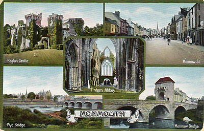 """""""""""postcard Multiview Monmouth,wales,dated 1912"""""""""""