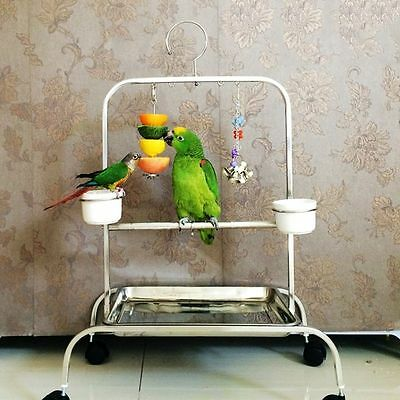 Birds Foraging Toys Parrot Hanging Swing Food Feeder Feed Toy Pet Cage Accessory