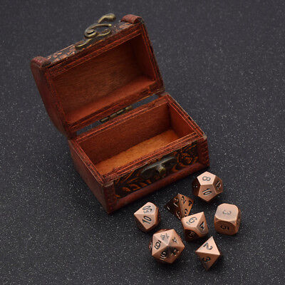 Skull Splitter Dice Antique Color-Solid Metal Polyhedral Role Playing Game