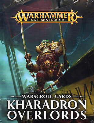 NEW Games Workshop Age of Sigmar Kharadron Overlords Warscroll Cards SEALED