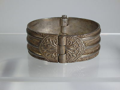 Ottoman Empire-Antique Turkish Ladies Bracelet-Brass-Silver Alloy-18/19 Century