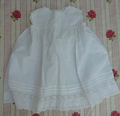 Pretty Girls Baby Petticoat Handmade Antique Lace Trim Edwardian White Dress