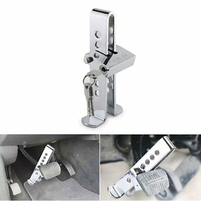 Car Truck Brake Pedal Security Lock Clutch Lock Anti-Theft Stainless Steel 7Hole