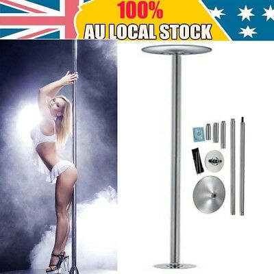 Steel Dance Pole 45mm Dancing Fitness Portable Static Stripper Spinning Exercise