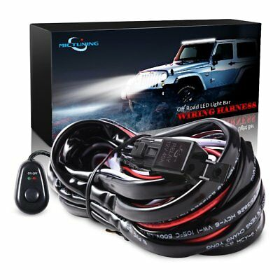 40A 12V 3M LED Work Light Bar Wiring Harness Relay Kit ON/OFF Switch Off Road