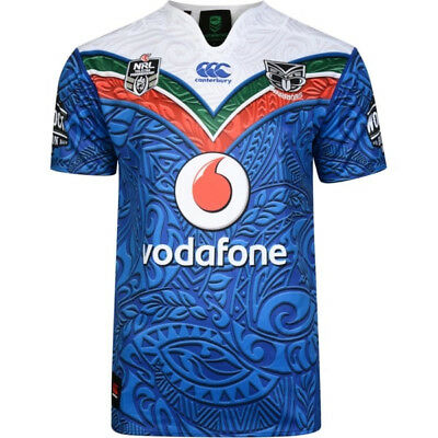Canterbury New Zealand Warriors 2017 Mens Heritage NRL Rugby Jersey Shirt