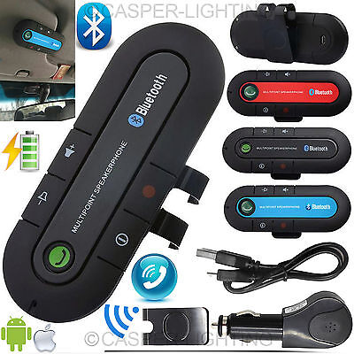 Bluetooth Wireless Car Kit Handsfree Speaker Phone Visor Clip for iPhone Android