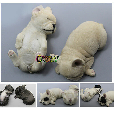 A Pair of MR.Z Baby French Bulldog Car Decorations BJD Accessories