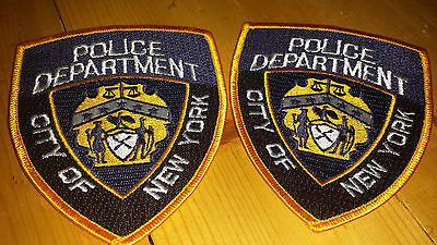 LOT OF 2 POLICE DEPARTMENT City of New York PATCH