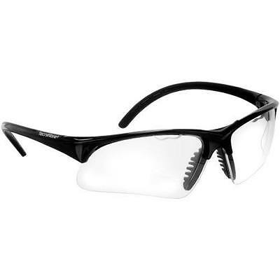 Tecnifibre Eye Protection Glasses Goggles With Carry Bag - Black Trim - Rrp £30