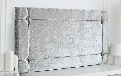 Quality Italia Diamante Crushed Velvet Headboard Choose Your Colour + Free P&p!!