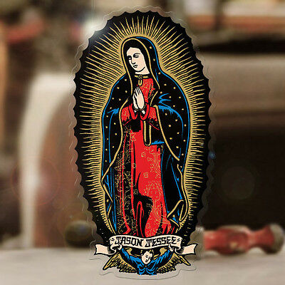 Santa Cruz Sticker Virgin de Guadeloupe Maria Hot Rod Surf Skate Tattoo 90mm