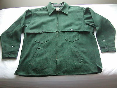 JOHNSON WOOLEN MILLS Vintage Wool Shirt Jac Size XXXL 3XL Spruce Green