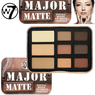 W7 Cosmetics - Major Matte Natural Mattes Eye Colour Eyeshadow Shade Collection