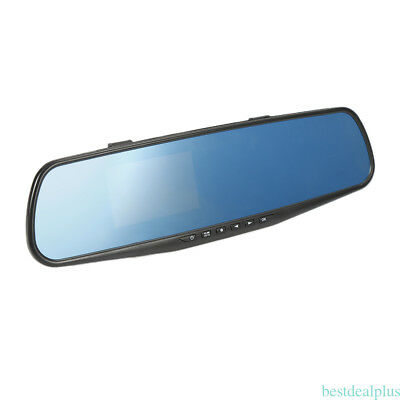 1080P Car Rearview Mirror DVR Dual Lens Front Camera Video Recorder usb charge