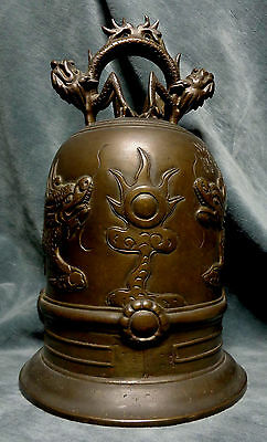 CINA (China): Old Chinese bronze dragon bell