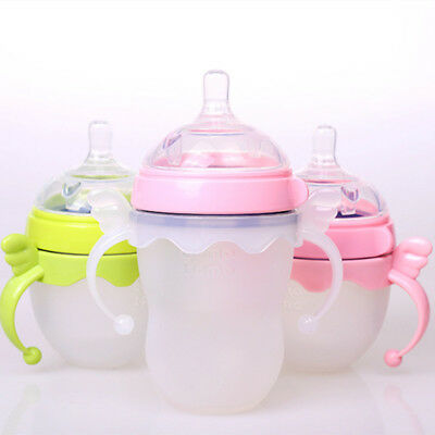 PC Cute Baby Cup Standard Handle Holder Trainer Easy Grip For Feeding Bottle Lot
