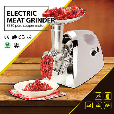 1300W Home Electric Meat Grinder Mincer Sausage Stuffer Stainless Food 3Blades
