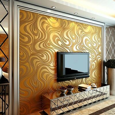 Modern luxury gold mural wall paper curve abstract Papel de parede 3D wallpaper