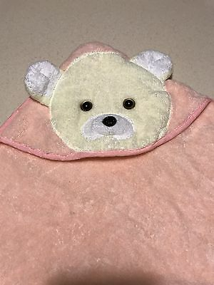 """Luckver Hooded Bear Bath towel for Baby or kids 100% Cotton,Wrap 30""""X30"""" NWOT"""