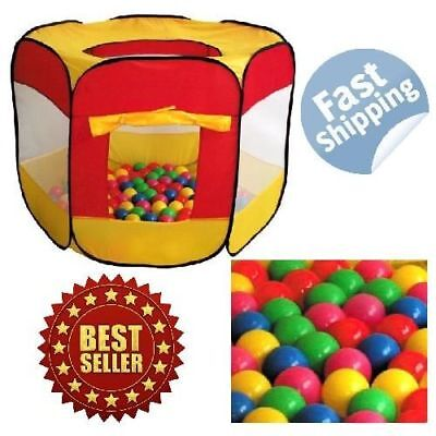 Play Tent With Balls 100 Pit Ball Childrens Outdoor Play House Tent for Kids Fun