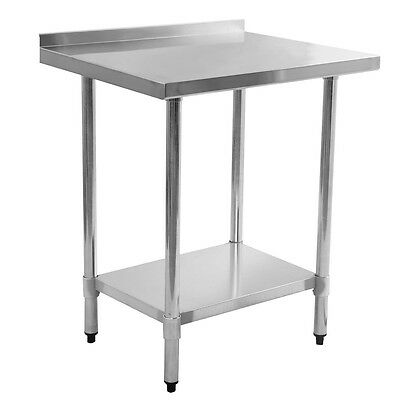 "Stainless Steel Food Prep Table W/Back Splash 24"" x 30"" Commercial Kitchen Work"