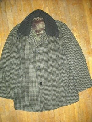 Vtg 50 60 Mens 50 Xl Clicker Wool Car Cruiser Zip Striped Rockabilly Coat Jacket