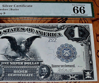 PMG FR 233 1899 $1 *ULTIMATE* GEM 66 EPQ  Low Serial Number Silver Certificate