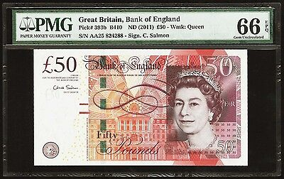50 Pounds 2011 Great Britain, Bank of England PMG 66 EPQ Gem Uncirculated