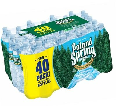 40 COUNT CASE Poland Spring Bottled Water, 16 9 oz, 40 ct Free Shipping New