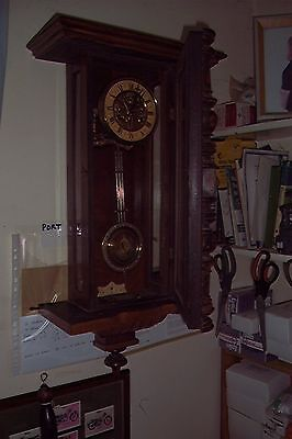 beautiful victorian striking wall clock