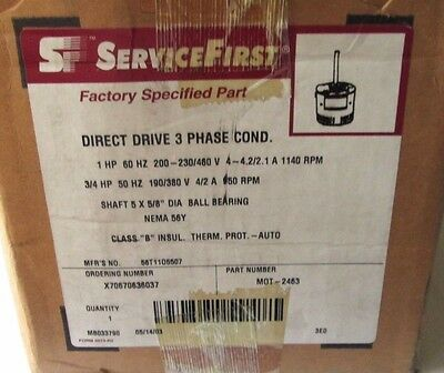 Marathon Direct Drive Motor Fan 3 Phase Cond.  X70670636037 1 HP