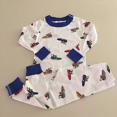 HANNA ANDERSSON AWESOME Organic Cotton Boys Pajama Set  18-24 Months. NEW!!