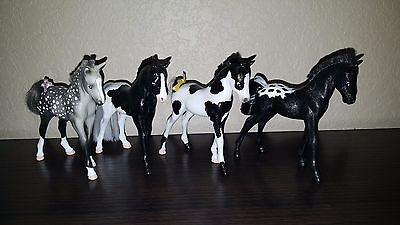 Grand Champion Horse C/M Custom Foals Set Lot of 4 **DISPLAY ONLY**