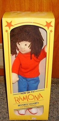 "Rare Vintage 1985 Ramona Quimby Doll Beverly Cleary Rare 16""  NIB Plush"
