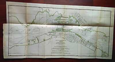 1899 Lake Superior MI Sault Ste Marie Sketch Map Shows Water Power Canal Project