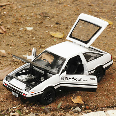 Initial D Toyota TRUENO AE86 1:28 Diecast Model Car Toy Sound&Light Xma Gift