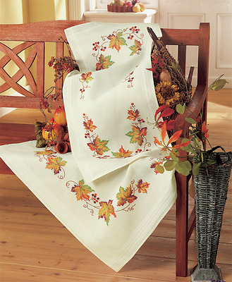Vervaco - Tablecloth - Embroidery Kit - Autumn Leaves - PN-0013291