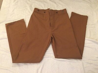 Wah Maker Frontier Canvas Button Fly Pants 38 USA