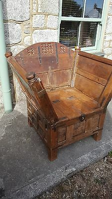 Antique  Indian Throne Chair 19th Century