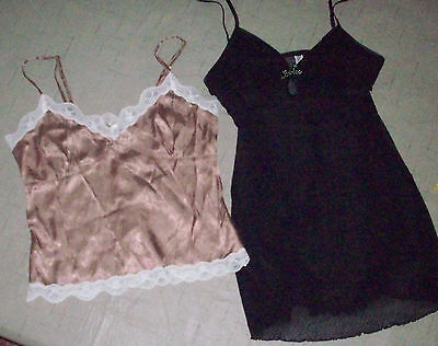 Lingerie size Medium Lot of 2 Old Navy & Gilligan & Omalley Black/Brown
