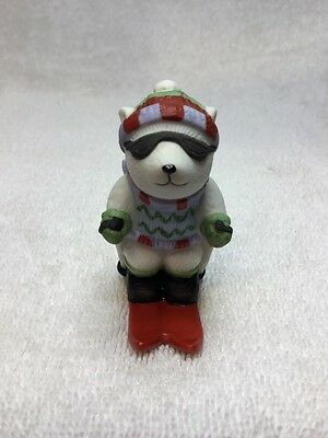 Bronson Boy Bear Snow ⛷ With Full Skiing Outfit~Baby Nursery Decor~80's