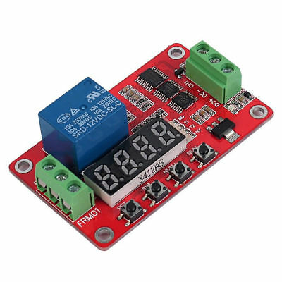 1pc 12V DC+/DC-/CH1 Self-lock Relay PLC Cycle Timer Module Delay Time Switch