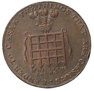 1795 Great Britain Middlesex William's Halfpenny Conder Token D&H-915